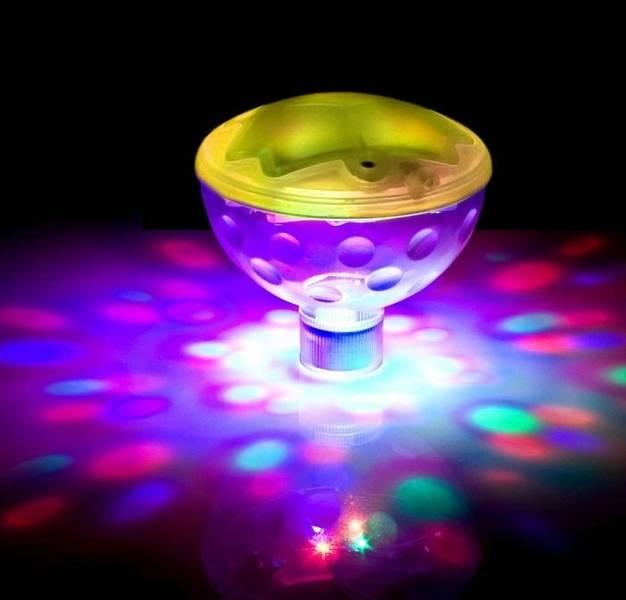 """Undervannsbelysning/ lysshow, flytende """"diskoball"""""""