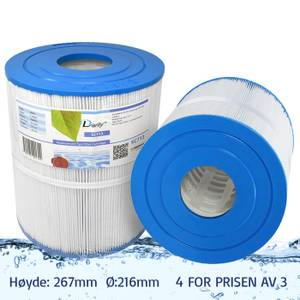 Bilde av Spafilter 65 sq. ft. u/ gjenger, vaskbart (4pk - spar 25%)